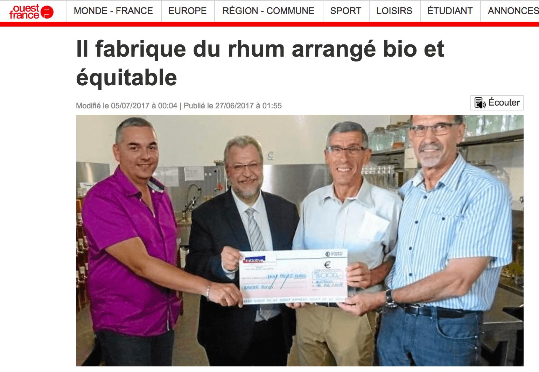 Ti'Bio dans le Ouest France du 27 juin