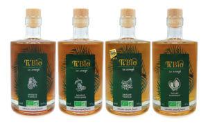 4 parfums gamme arrangés bio équitable ti'bio
